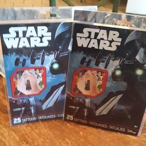 2 Packs of Removable Star Wars Tattoos